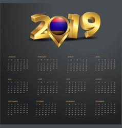 2019 calendar template armenia country map golden vector