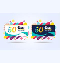 50 years pop anniversary modern design elements vector