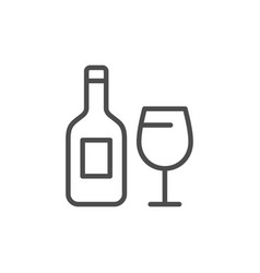 alcohol drink line icon vector image