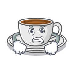 Angry coffee character cartoon style vector