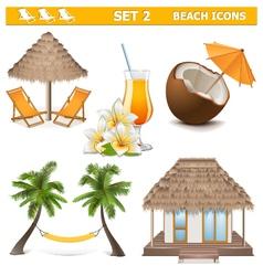 Beach Icons Set 2 vector