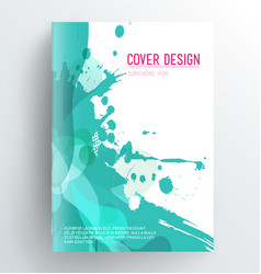 book cover design template with abstract splash vector image