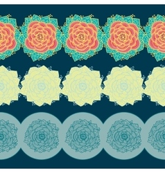 Borders with flowers vector image