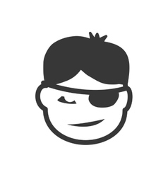 Boy head icon Kid person design graphic vector