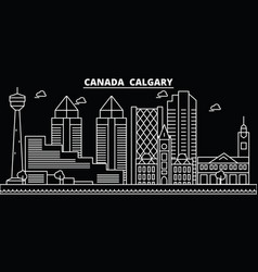 calgary silhouette skyline canada - calgary vector image