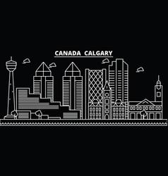 Calgary silhouette skyline canada vector