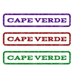 cape verde watermark stamp vector image