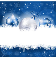 christmas background in blue with copy space vector image