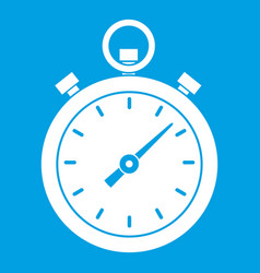 Chronometer icon white vector