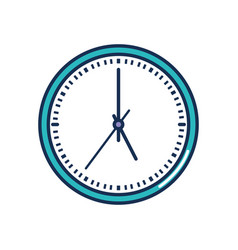 Clock with 5 oclock time line style vector