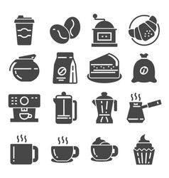 coffee coffee house coffee shop elements icons vector image