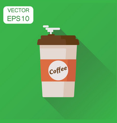 coffee cup icon business concept coffee pictogram vector image