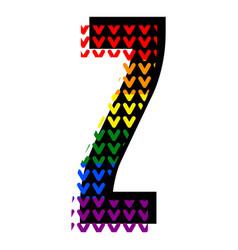 creative bright font alphabet in style pop art vector image