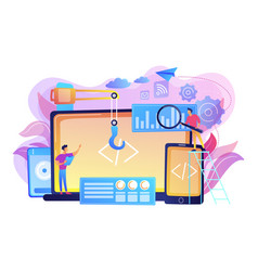 Cross-platform development concept vector