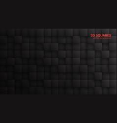 Dark gray 3d blocks abstract background vector