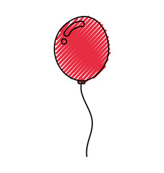 Decorative party balloon air vector