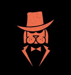 dog mafia logo vector image
