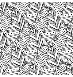 doodle seamless pattern with ethnic leaves vector image