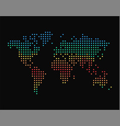 Dots world map with climatic zones colorful vector
