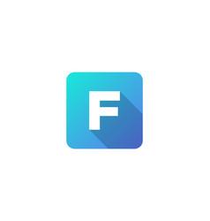 F modern gradation shadow letter logo icon design vector