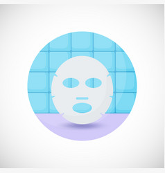 Face mask flat icon vector