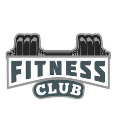 Fitness muscle logo image vector