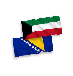 Flags bosnia and herzegovina and kuwait vector