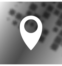 Flat paper cut style icon of map pointer vector image