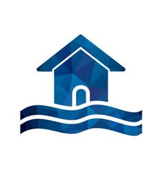 Flood symbol icon vector