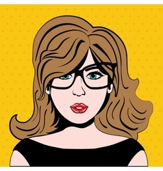 Girl cartoon icon Pop art design graphic vector image