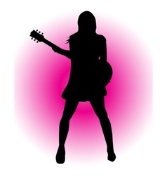 Girl Guitarist vector image