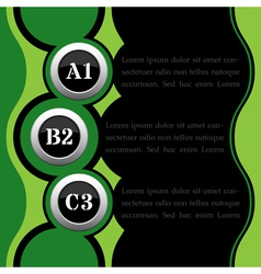 Green and black infographics vector