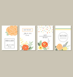greeting card invitation or banner vector image