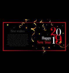 happy new year stylish card with space for your vector image