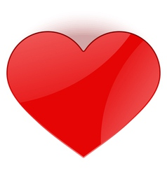 heart top view vector image