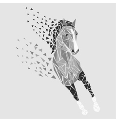 Horse particles icon vector