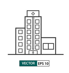 Hospital building icon outline style eps 10 vector