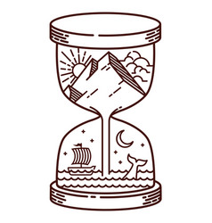 hourglass natural line vector image