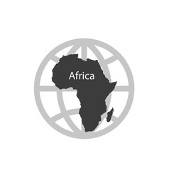 icon africa simple vector image
