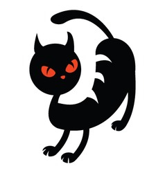 illustration of a black cat vector image