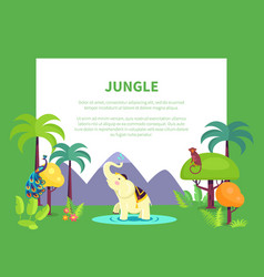 indian jungle with tall trees and exotic animals vector image