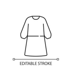 Isolation gown linear icon vector
