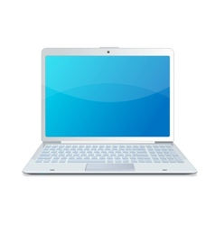 laptop isolated white vector image
