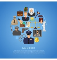 Law and Order Concept vector image