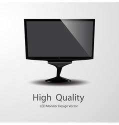 Led monitor design vector