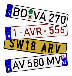 license plate numbers vector image