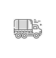Line truck logo vector