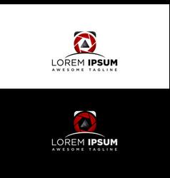logo template photography studio photographer vector image