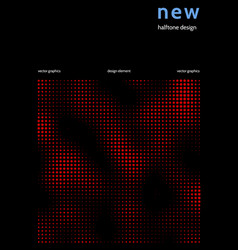 Minimalist cover design with color halftone vector