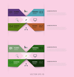 Modern strips infographics different options vector